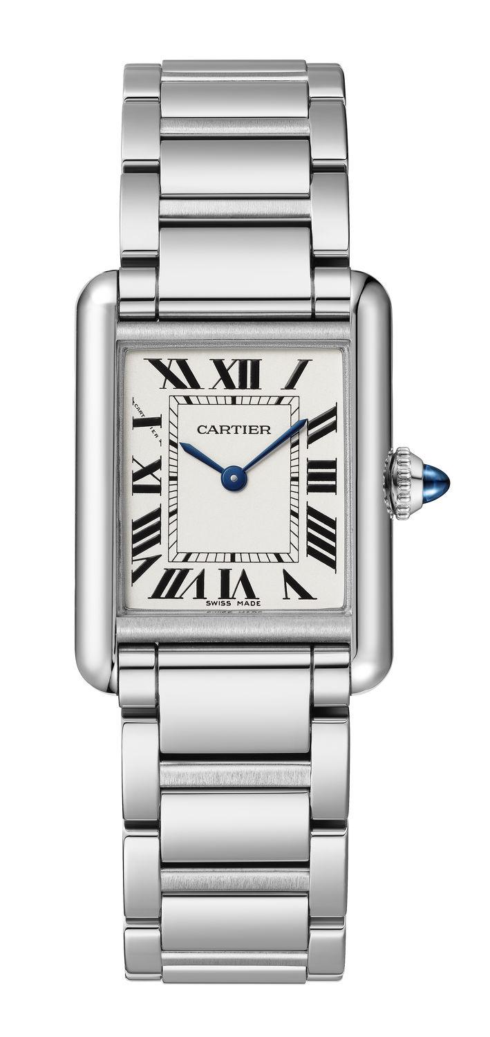 cartier watch silver