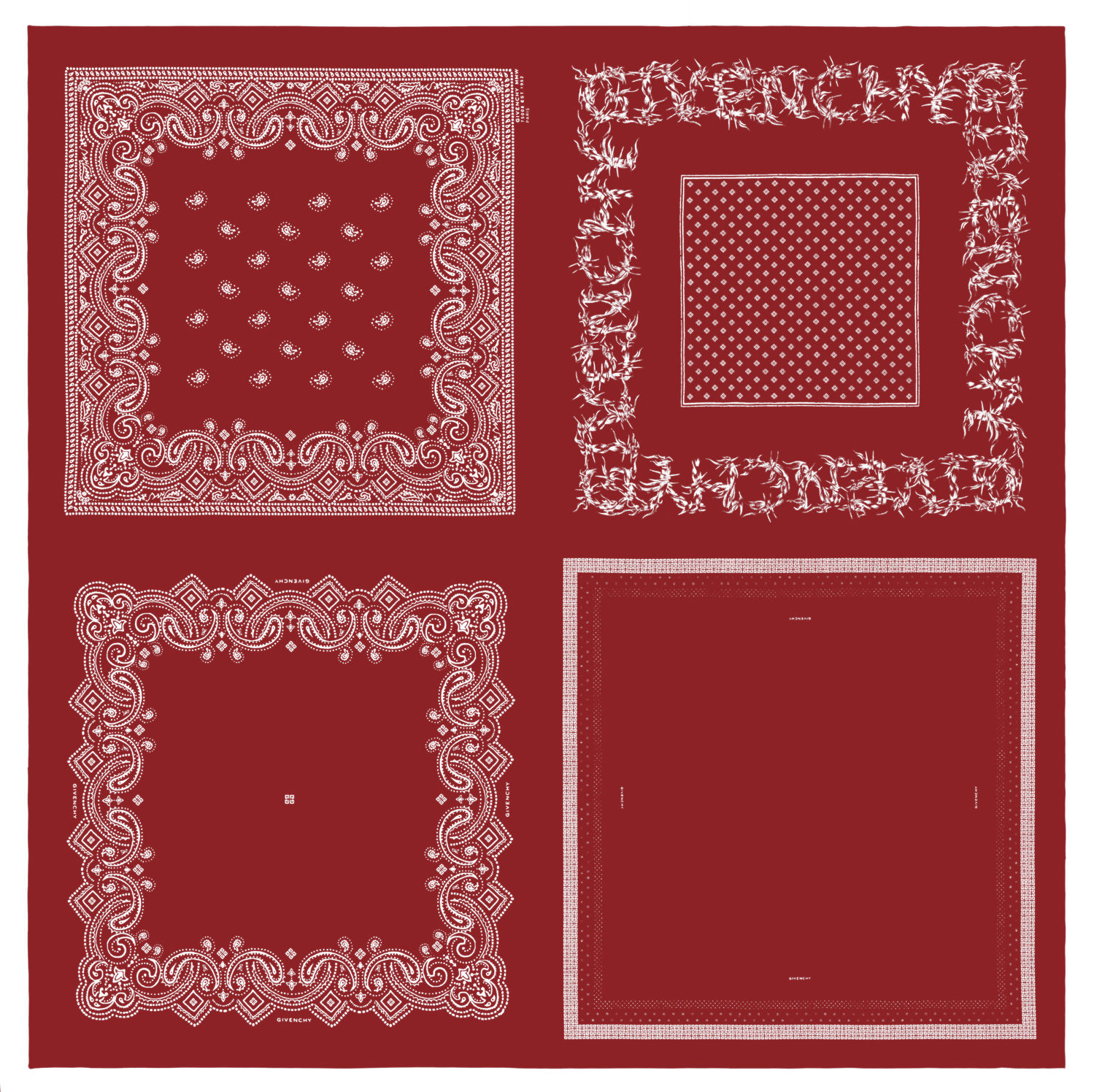 PRINTED BANDANA IN RED - THE EDGE SINGAPORE
