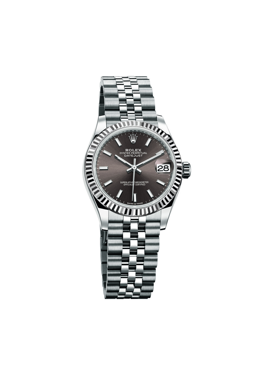 Oyster Perpetual Datejust 31 with dark grey dial - THE EDGE SINGAPORE