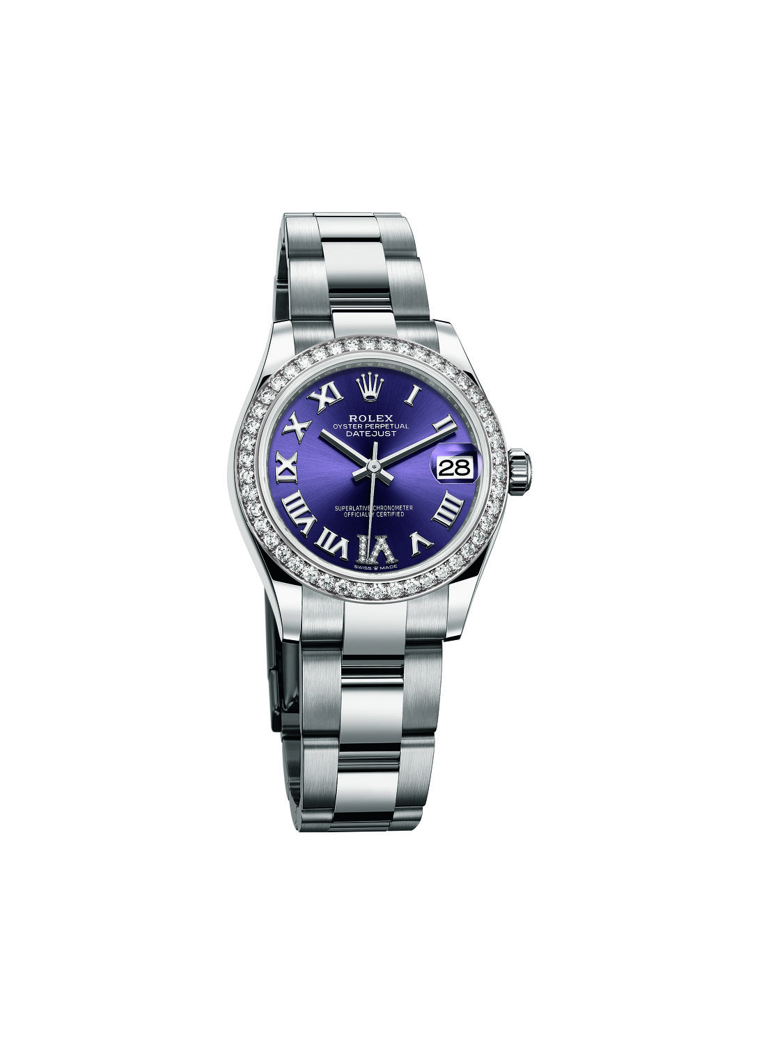 Oyster Perpetual Datejust 31 with aubergine dial - THE EDGE SINGAPORE