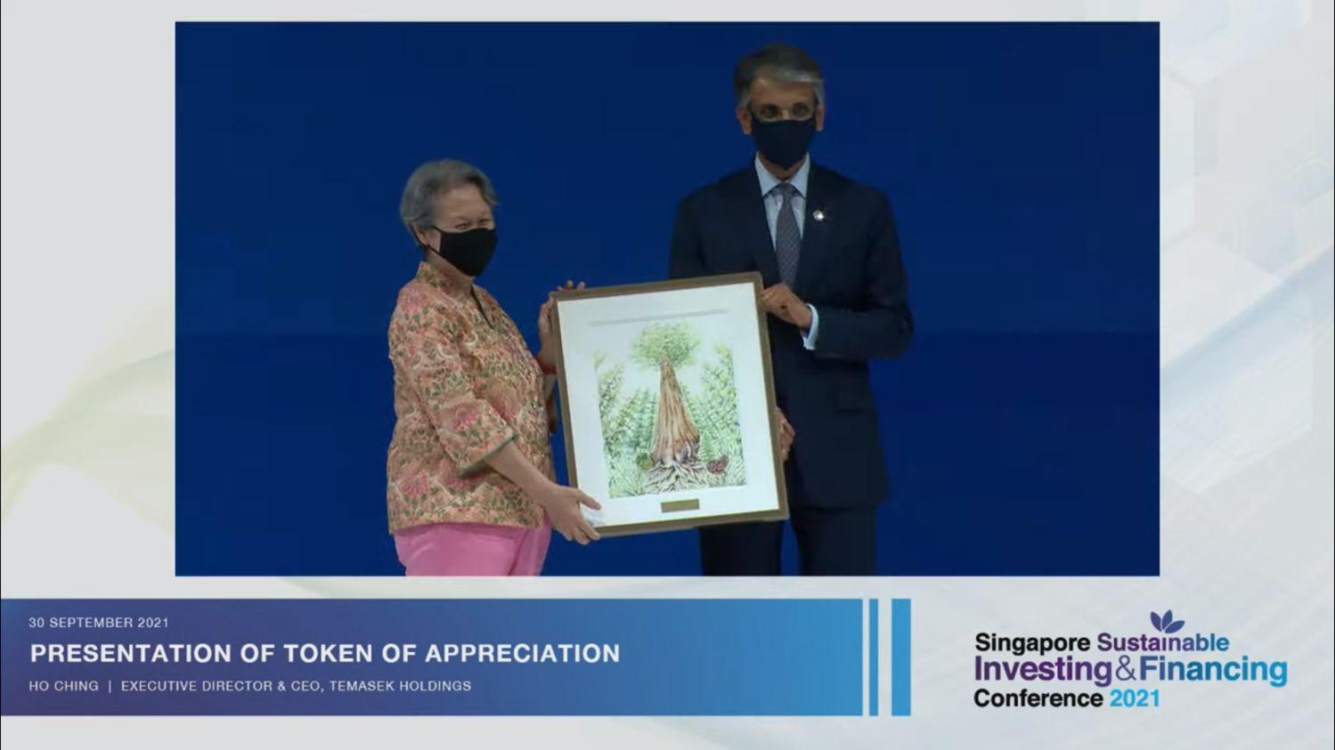 presentation of token of appreciation - THE EDGE SINGAPORE