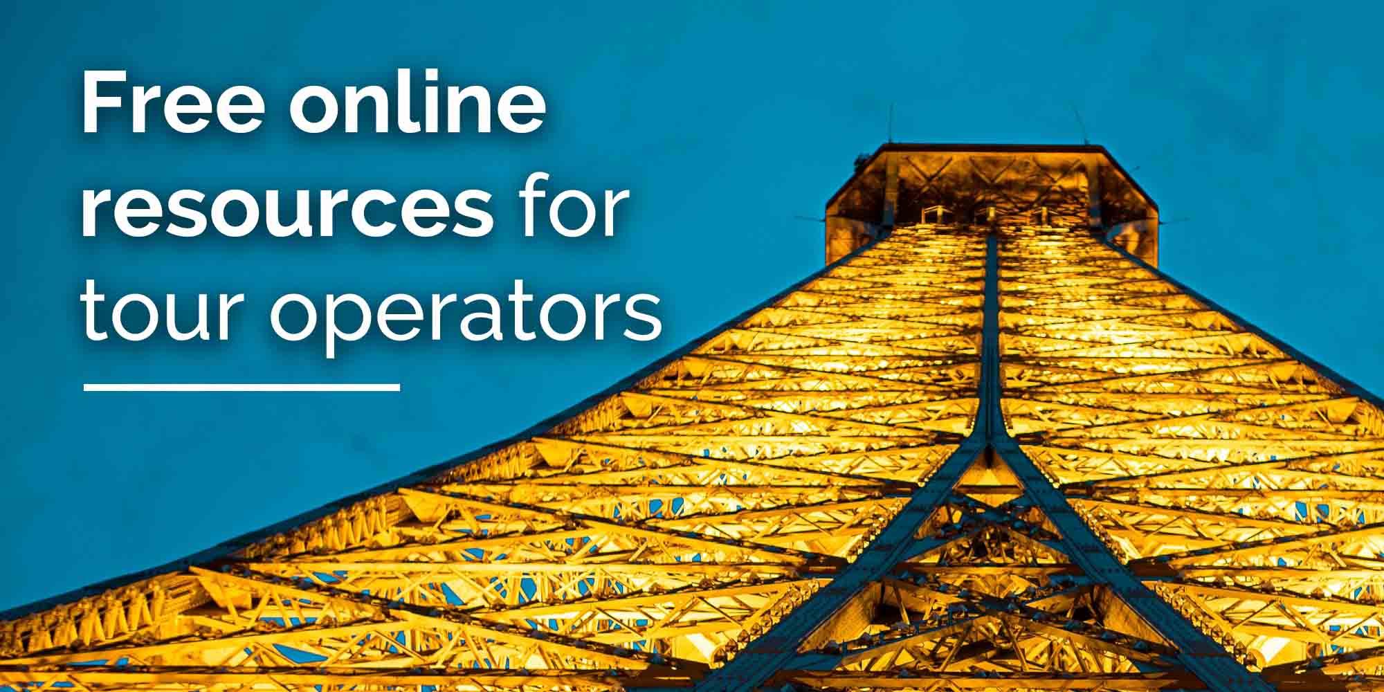 free digital resources tour operators